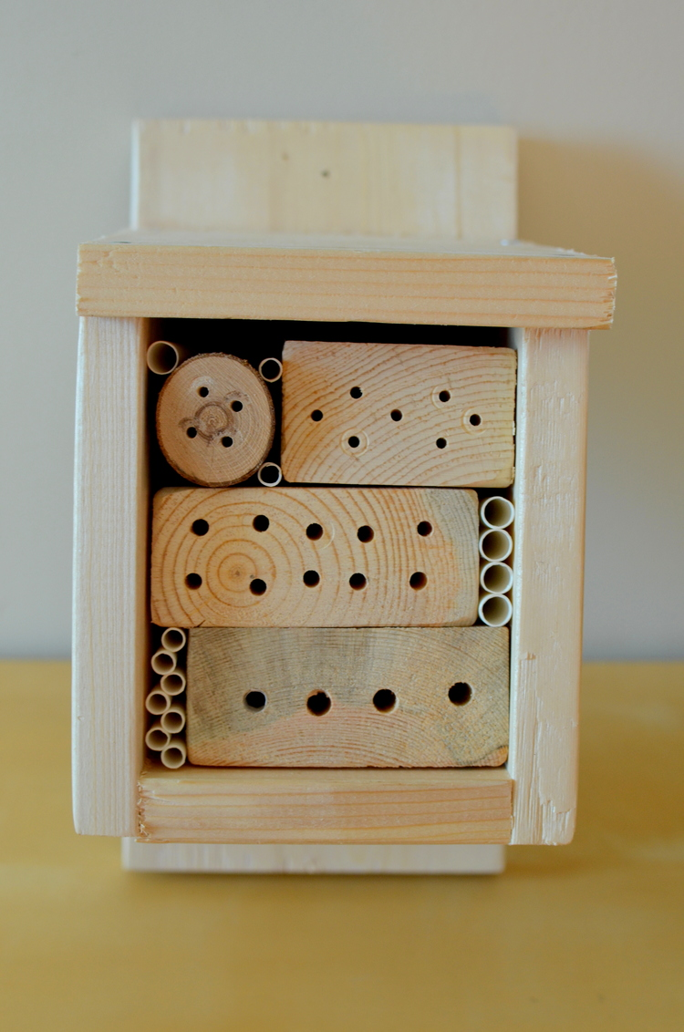 Sample bee hotel participants will make in the workshop.