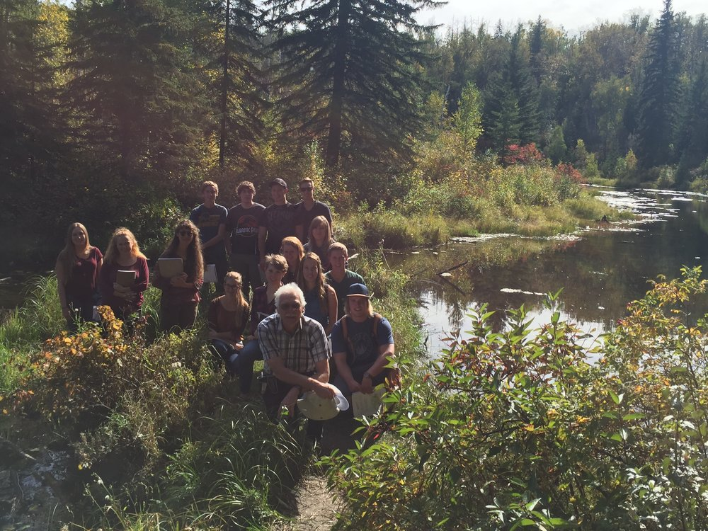 King's University students at Larch Sanctuary