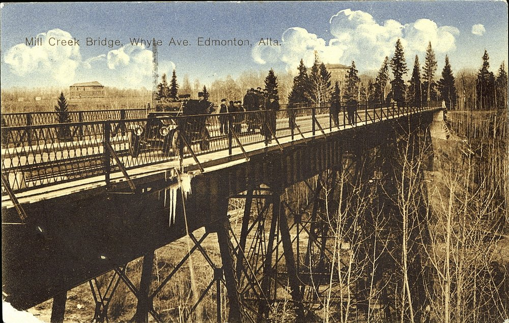 Mill Creek Bridge, Whyte Ave, Edmonton, Alta