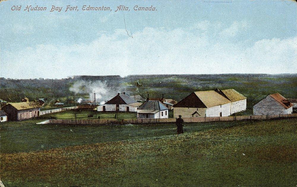 Old Hudson Bay Fort, Edmonton, Alta, Canada
