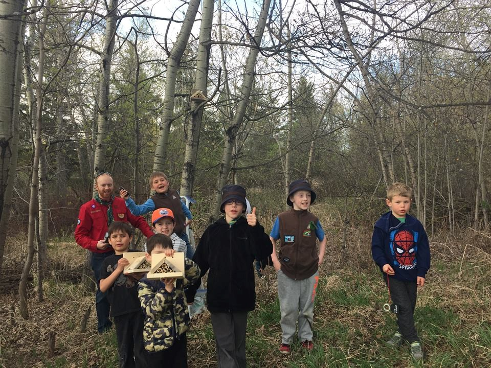 Tuesday Beaver Colony installing bee houses in the park system