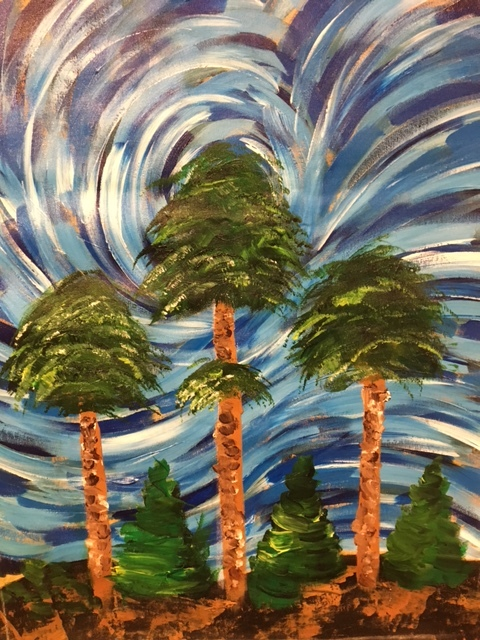 Happy Trees example painting