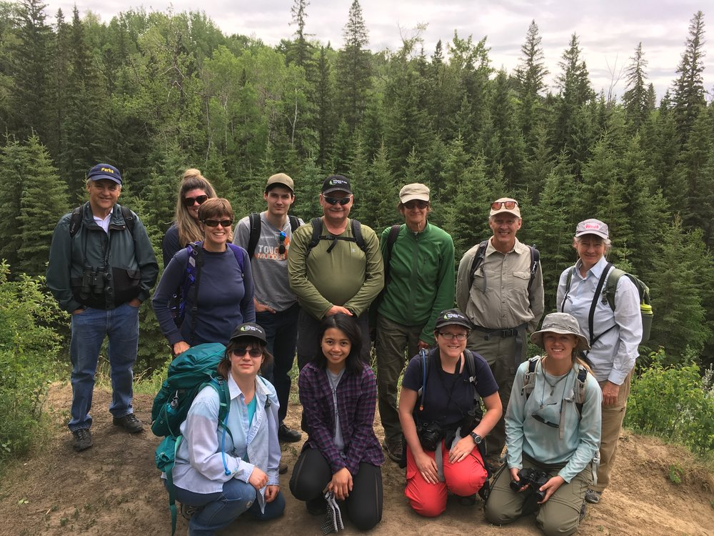 Volunteers who removed invasive Leafy Sprurge from Larch Sanctuary