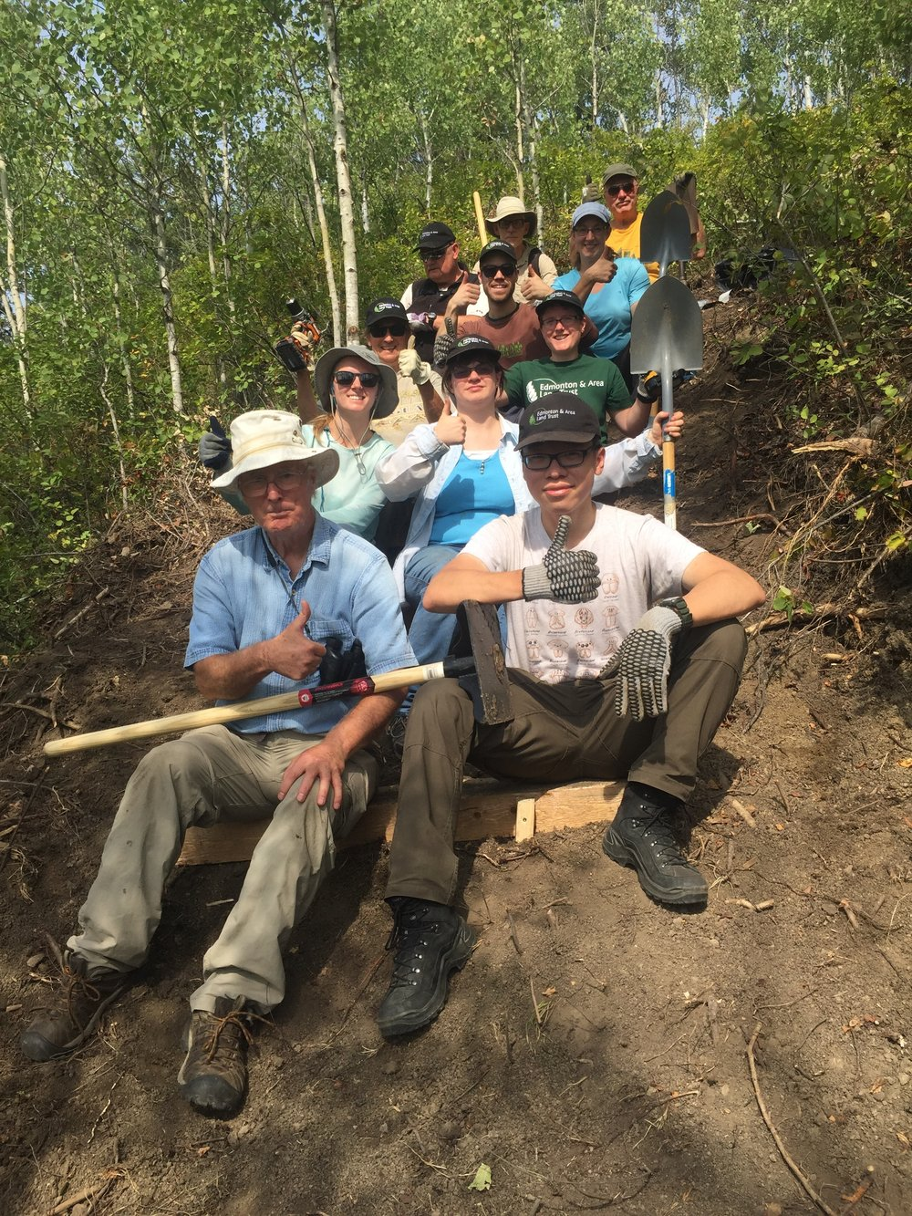 Volunteers installed 30 stairs at Coates to make the trail more safe to walk