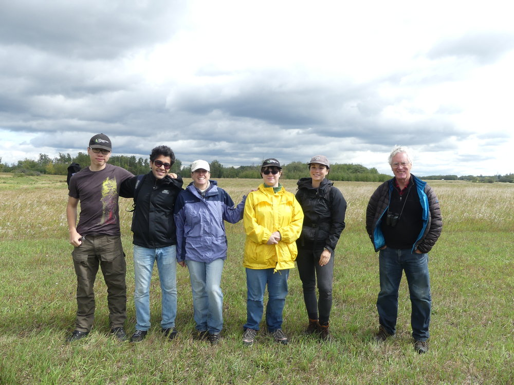 Volunteers who cleaned out 54 nest boxes at Golden Ranches