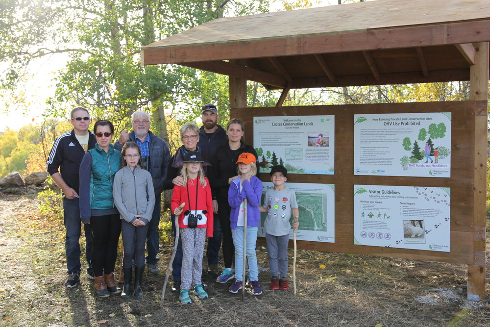 The family of Ethel Coates joined us for the Grand Opening of Coates Conservation Lands