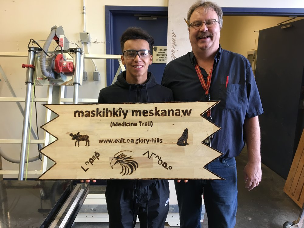 Indigenous Partnership - We are working with students from amiskwaciy Academy to incorporate Indigenous names on our conservation lands. Click here to read more.