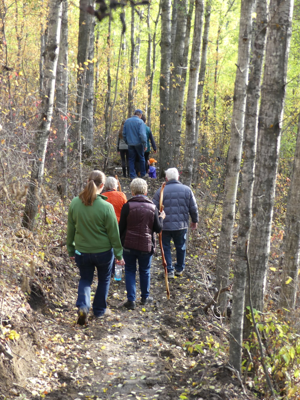 Guided walk at Coates Grand Opening