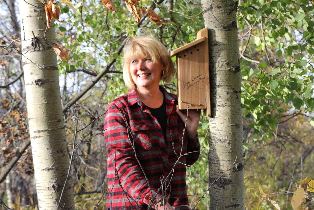 Leduc County Mayor installed a nest box at Coates Grand Opening