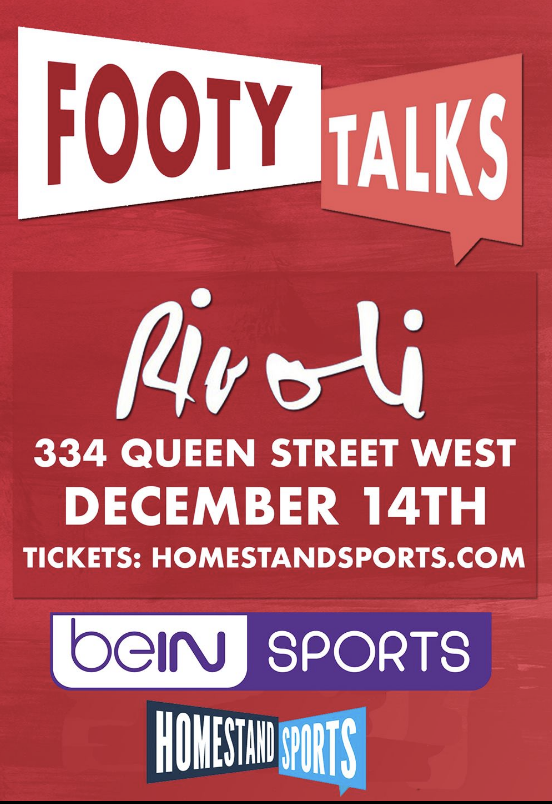 FOOTY TALKS - COVER: $20 Adv / $25 DoorMORE INFO