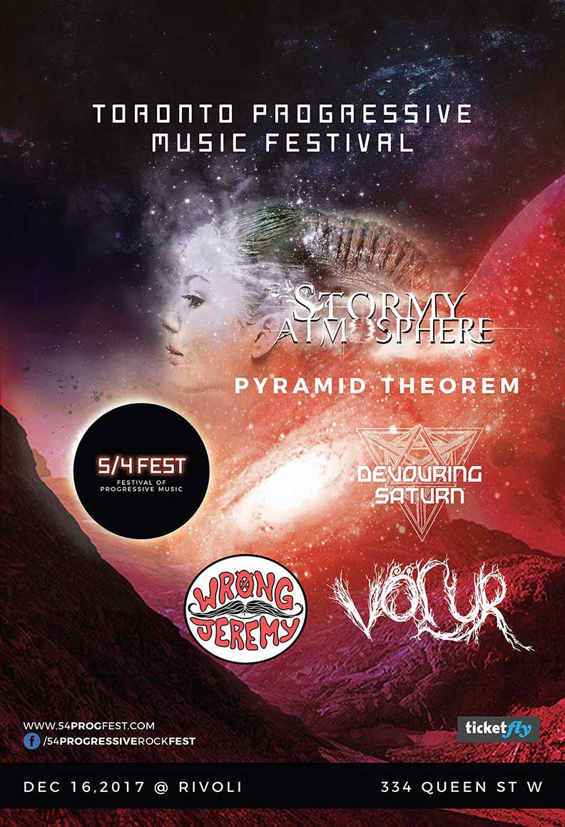 FESTIVAL OF PROGRESSIVE MUSIC - Stormy Atmosphere, Pyramid Theorem, Devouring Saturn, Wrong Jeremy, VorurCOVER: $15 Adv / $20 DoorMORE INFO