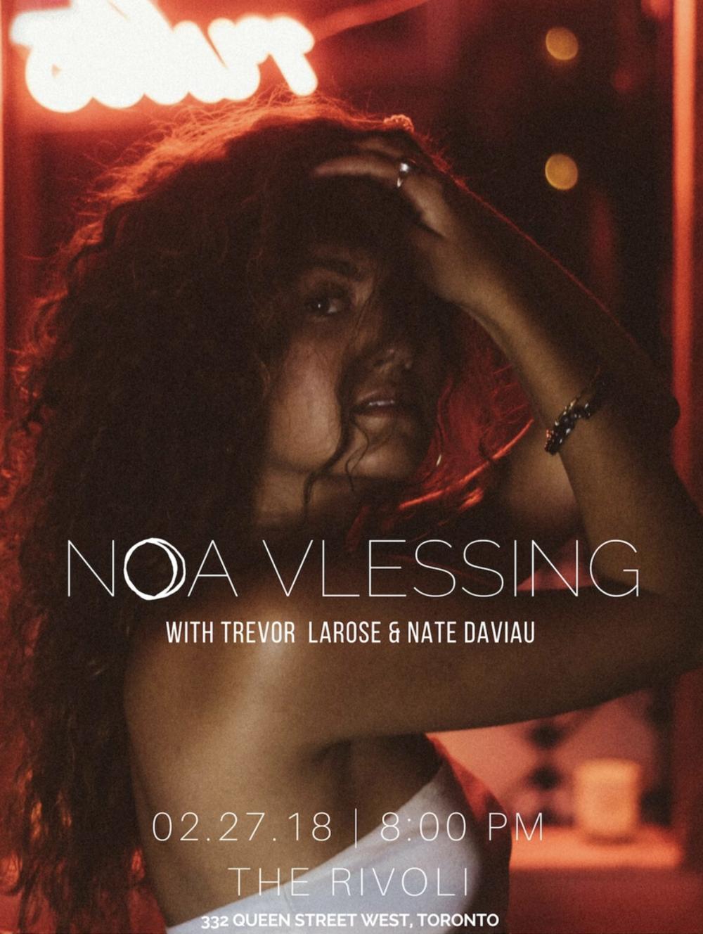 NOA VLESSINGW/ TREVOR LAROSENATE DAVIAU - COVER: $15 ADV / $20 DOORMORE INFO