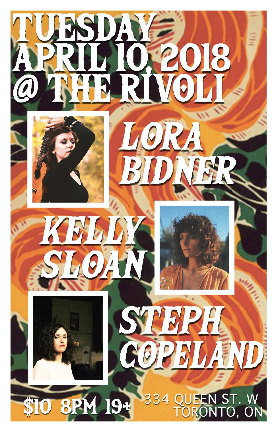 LORA BIDNERW/ STEPH COPELKELLY SLOAN - COVER: $10 ADV / $15 DOORMORE INFO