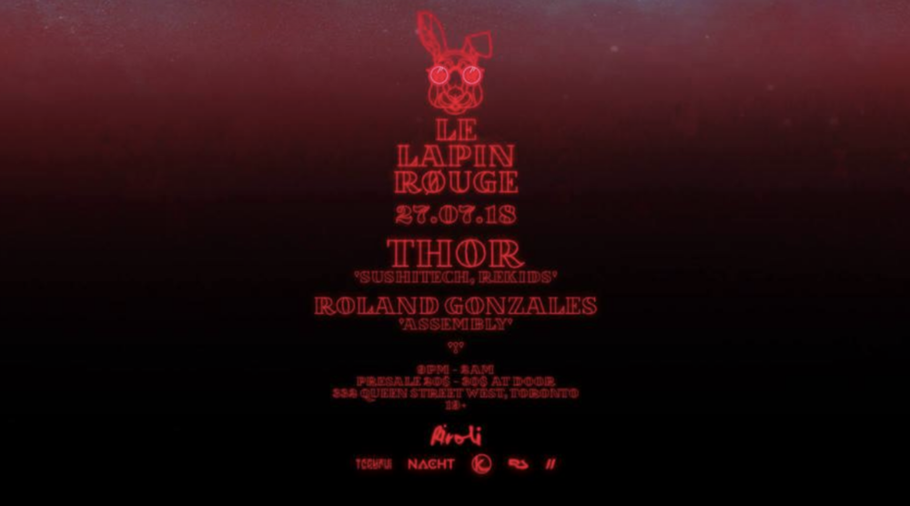 LE LAPIN ROUGE INVITES THOR - COVER: $20MORE INFO