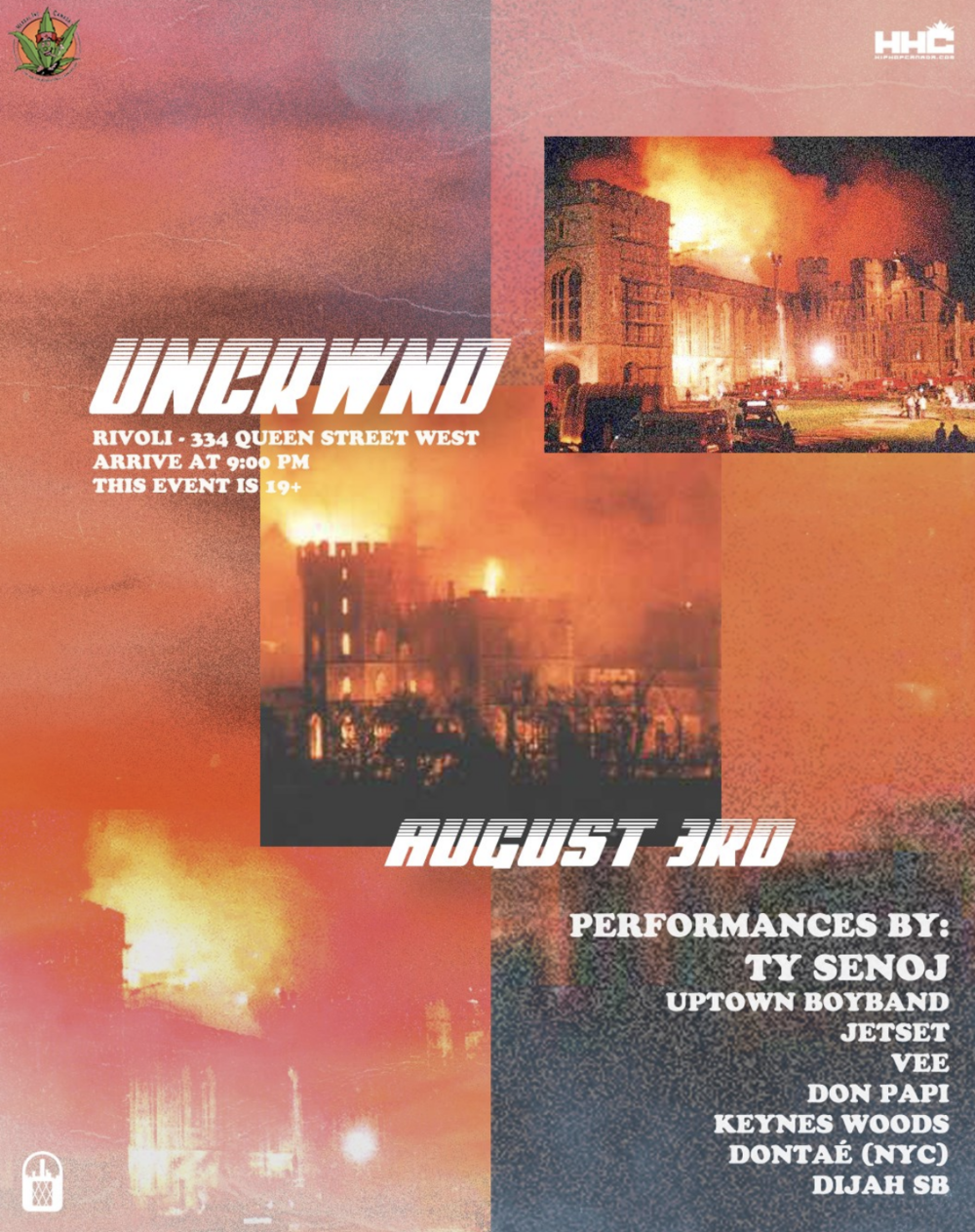 UNCRWND VOL. 8Ty SenojUptown Boy BandJETSETVeeDon PapiKeynes WoodsDontaéDijah SB - COVER: $20 ADV / $25 DOORMORE INFO
