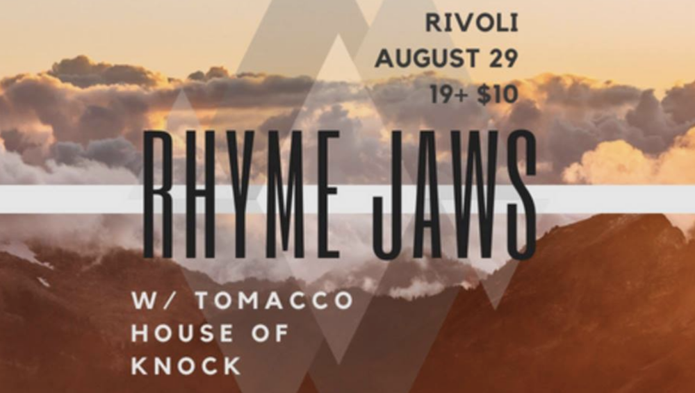RHYME JAWSW/ TOMACCOHOUSE OF KNOCK - COVER: $10MORE INFO