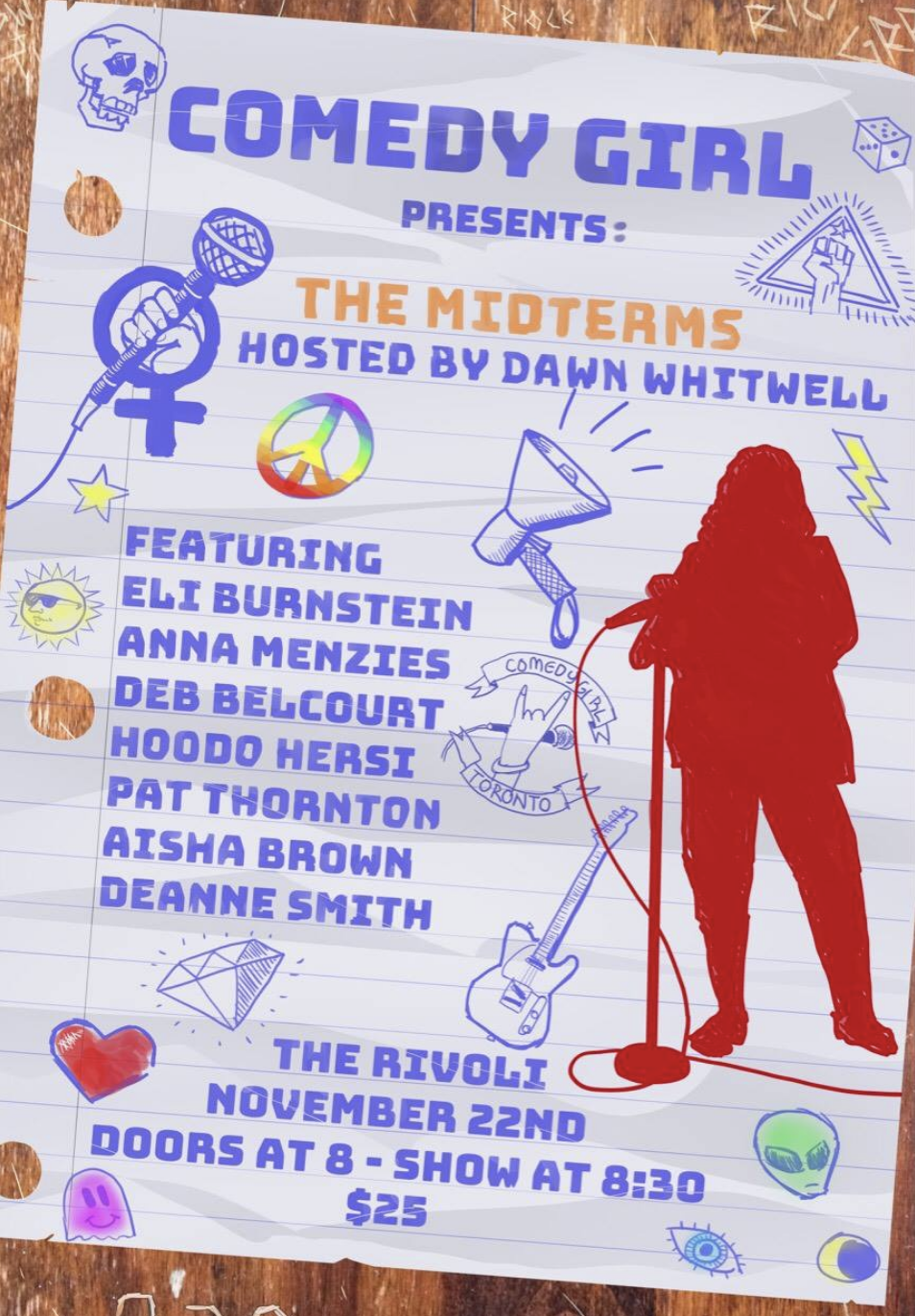 COMEDY GIRL PRESENTS: THE MIDTERMS - COVER: $25MORE INFO: