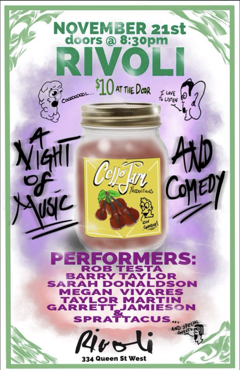CelloJam Productions: A Night Of Music And Comedy - MORE INFO
