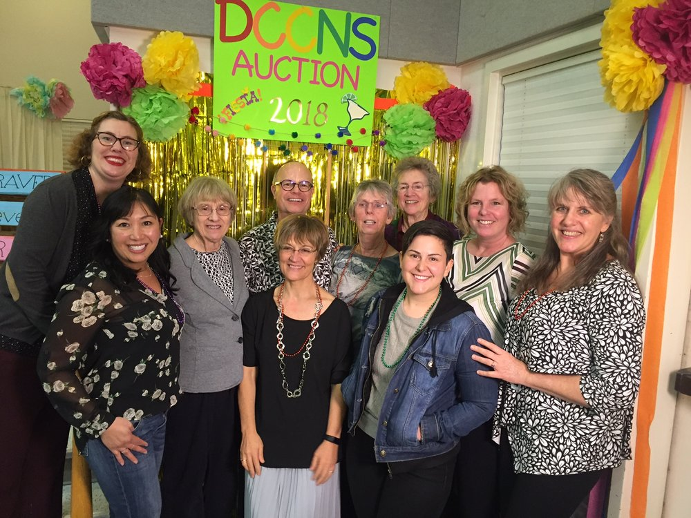 DCCNS' annual auction in 2018 celebrating decades of DCCNS teachers.