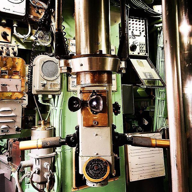 This is the periscope aboard the USS  Growler submarine 1958-1964 New York, NY