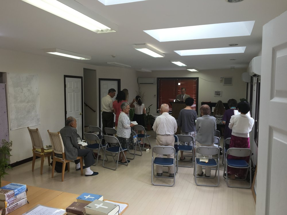 Worship service at Nozomi.