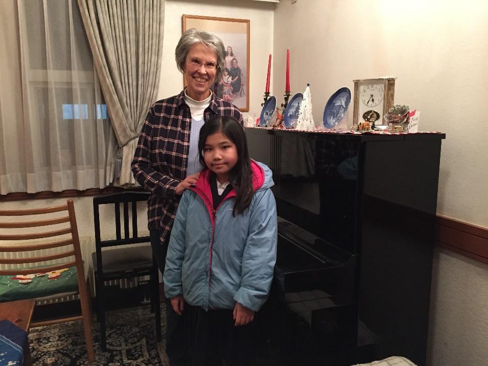 Katie & her student, Momoka