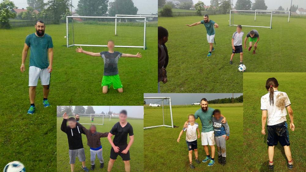 Wir hatten Fussballpläne... und dann kam der Regen... vielleicht nass und dreckig, aber stören lassen haben wir uns davon nicht ;)