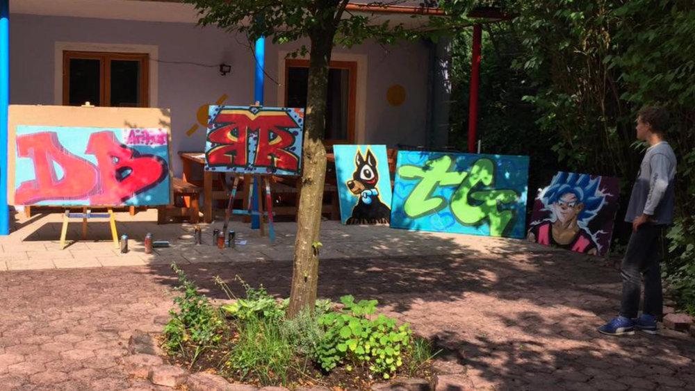 Graffiti ist angesagt: heute lassen wir unserer herbstlichen Kreativität freien Lauf