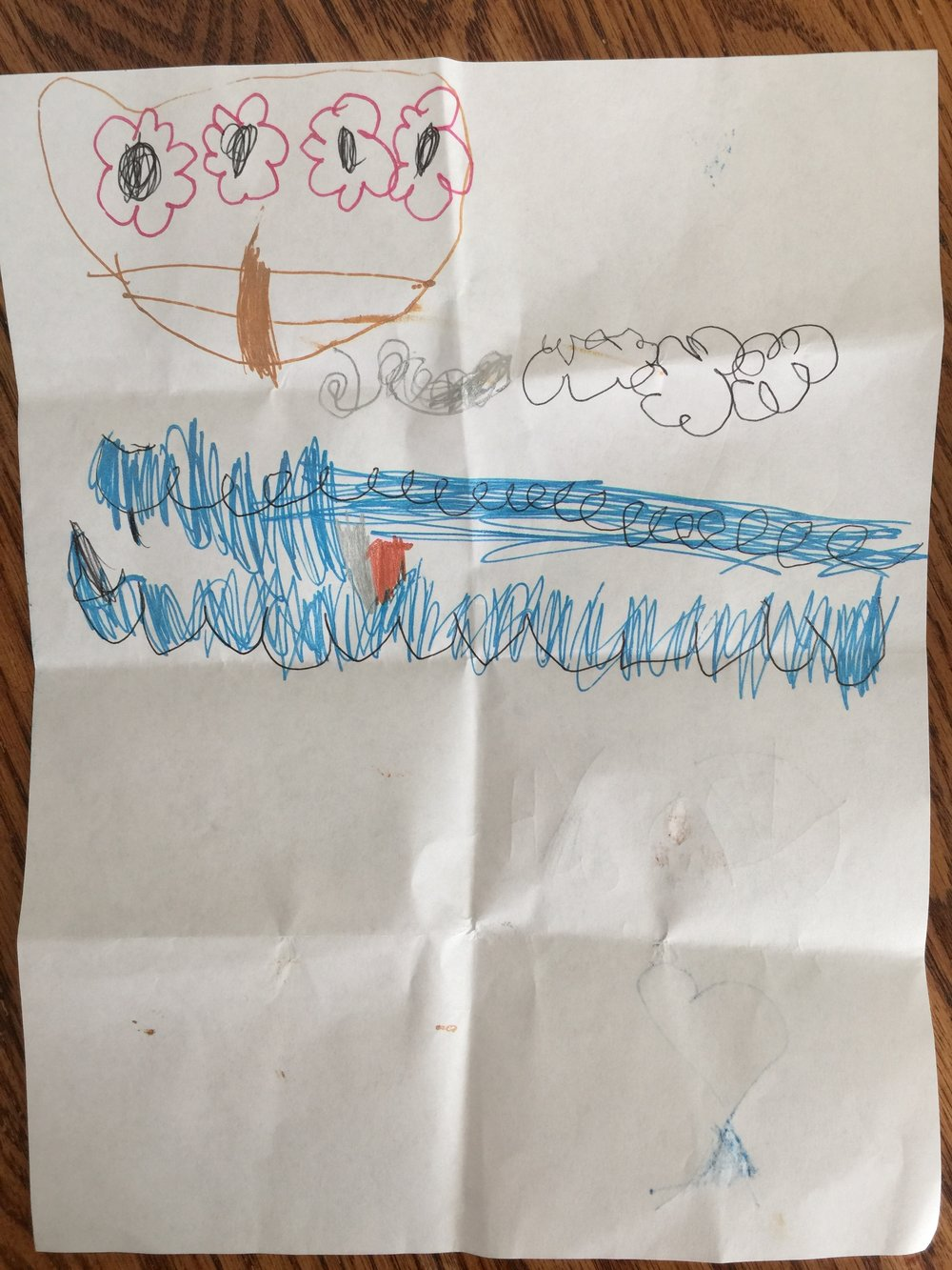 Drawing by Avila, 5 years old, inspired by Ballet West II's  The Little Mermaid .