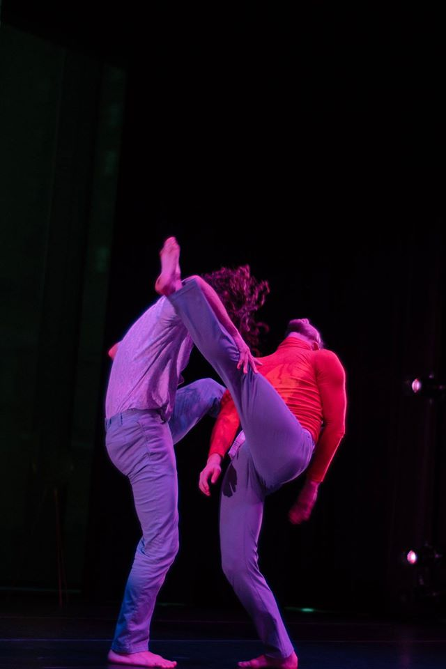 """Rocket Man"" duet with Florian Alberge (right) and Nick Blaylock. Photo by Tori Duhaime."