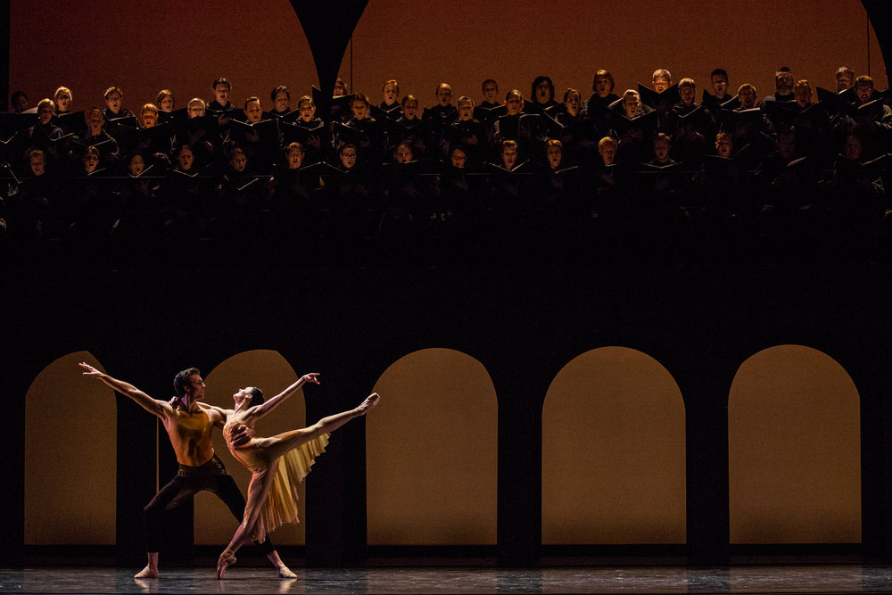 Principal Artists Beckanne Sisk and Chase O'Connell in Nicolo Fonte's  Carmina Burana . Photo by Luke Isley.