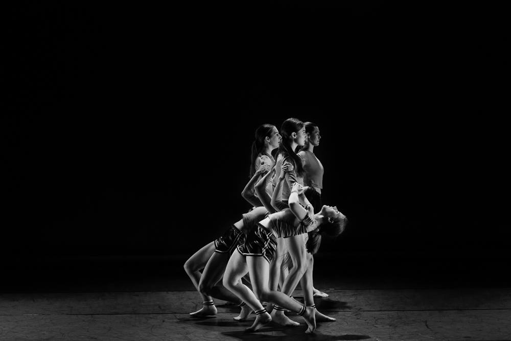 "Dancers in Lauren Curley's ""The Sum of None."" Photo by Sharon Kain."
