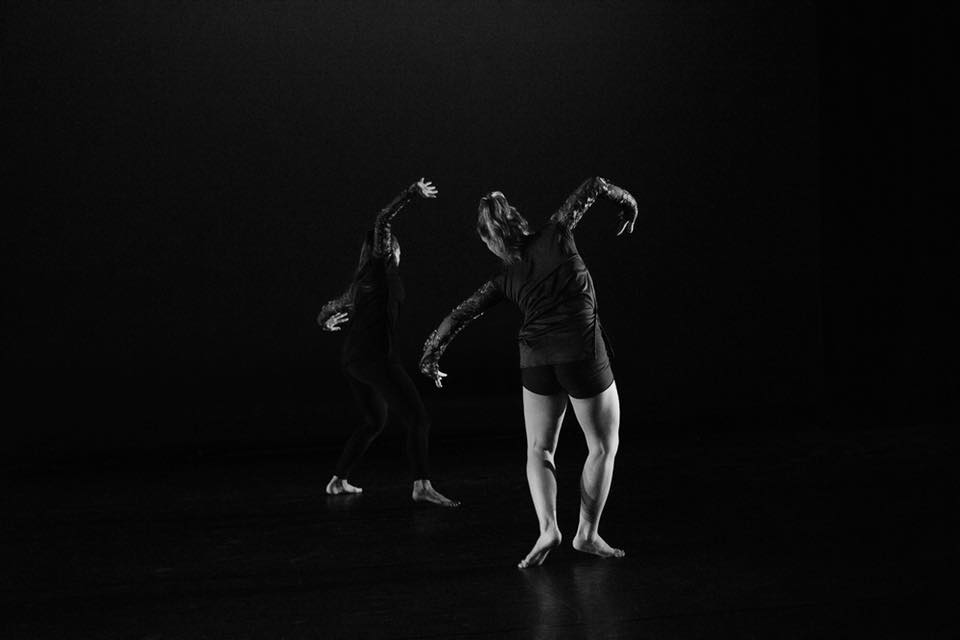"Dancers in ""Doors"" by Justin Bass. Photo by Sharon Kain."