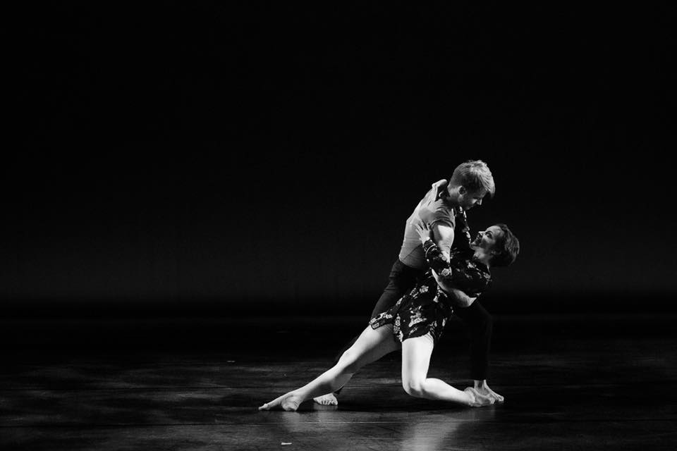 "Tyler Orcutt and Tiana Lovett in Efrén Corado Garcia's ""Collateral Beauty."" Photo by Sharon Kain."