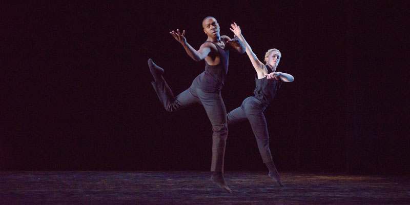 "Justin Bass and Jaclyn Brown in ""Schubert Impromptu"" by Francisco Gella. Photo courtesy of RDT."