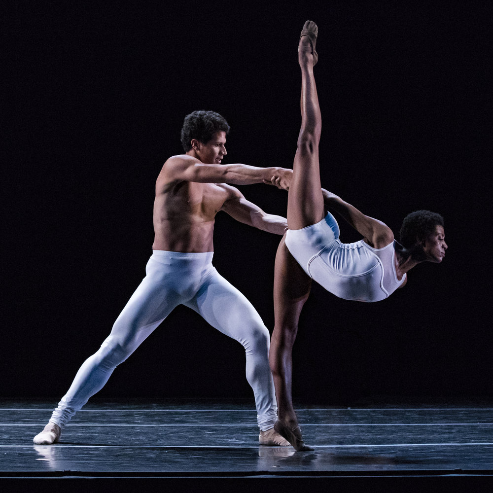 Soloist Katlyn Addison and Artist Hadriel Diniz in Africa Guzmán's  Sweet and Bitter . Photo by Beau Pearson.