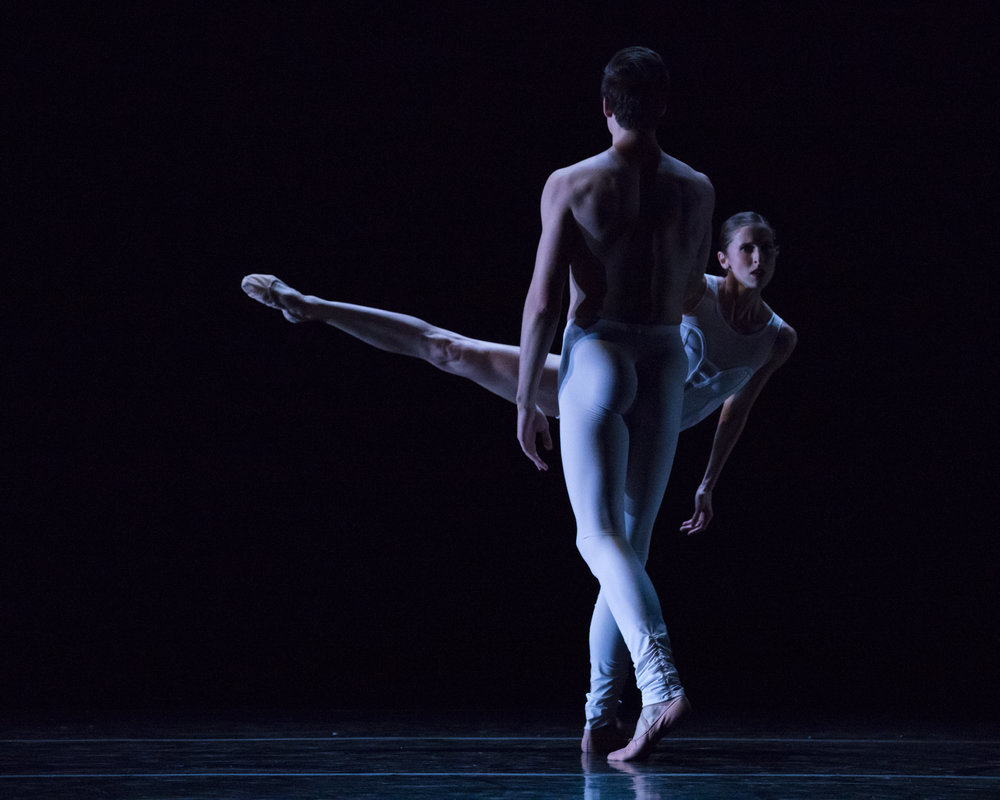 Principal Artist Chase O'Connell and First Soloist Allison DeBona in Africa Guzmán's  Sweet and Bitter . Photo by Beau Pearson.