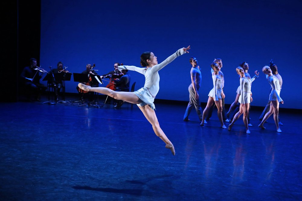 Dancers of BalletX in Matthew Neenan's  Increasing . Photo by Bill Hebert.