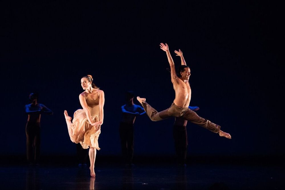 Corado with Lauren Curley in Donald McKayle's  Rainbow Round My Shoulder,  photo by Sharon Kain