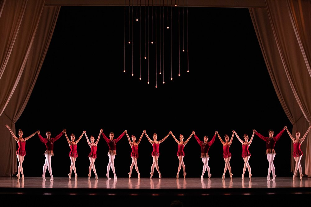 Artists of Ballet West in George Balanchine's  Rubies . Photo by Beau Pearson.