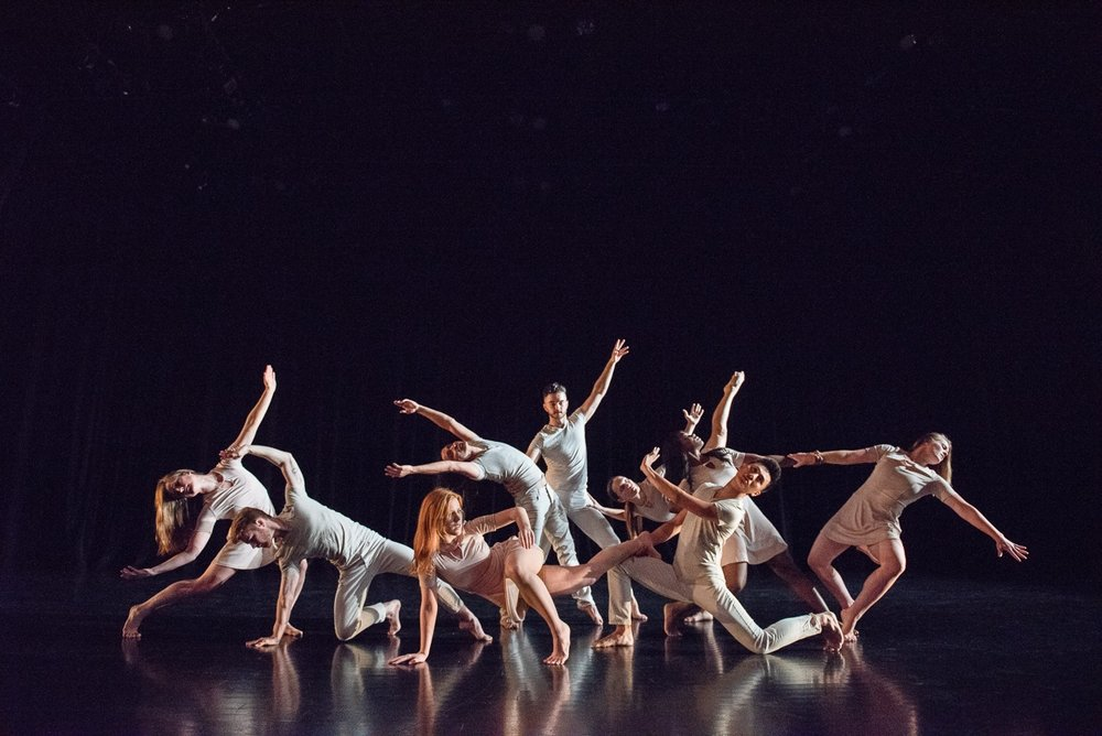 The dancers of Repertory Dance Theatre, whose choreography is featured in  Emerge . Photo courtesy of RDT.