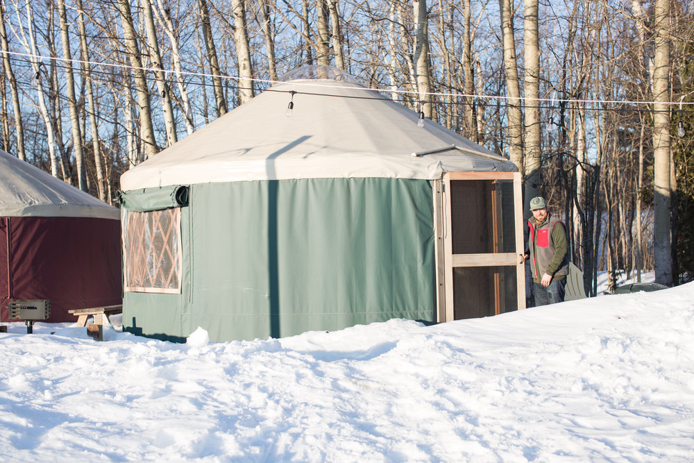 The cutest little winter yurt. Be warned that the yurt's aren't heated so you have to have the proper winter sleeping gear!