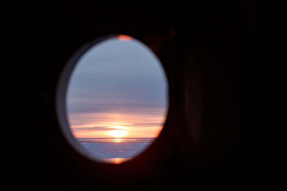A view of the sunset from the top of Big Bay Lighthouse.