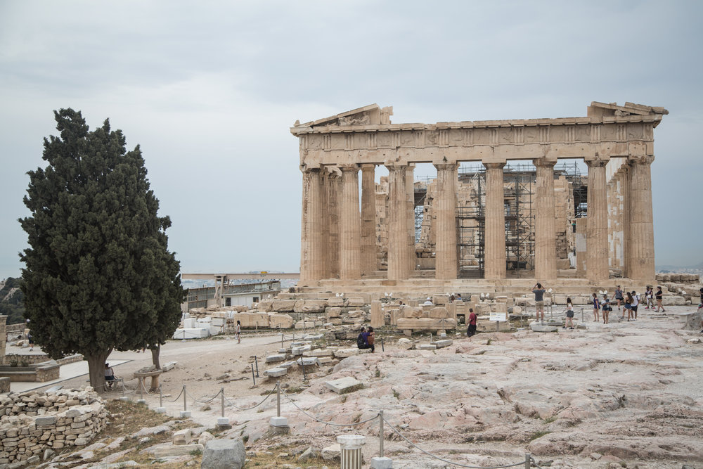 We didn't leave ourselves any time to feel jet lagged. After arriving in Athens our first stop was the Acropolis!