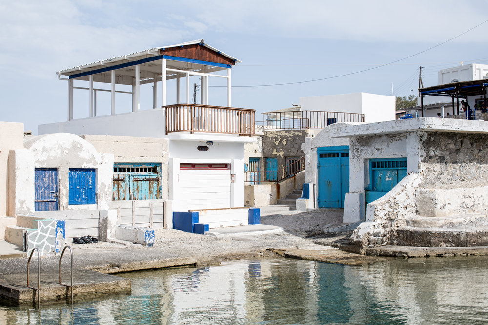 These small finishing villages are scattered throughout Milos.  I loved wandering down to explore the bright boathouses.