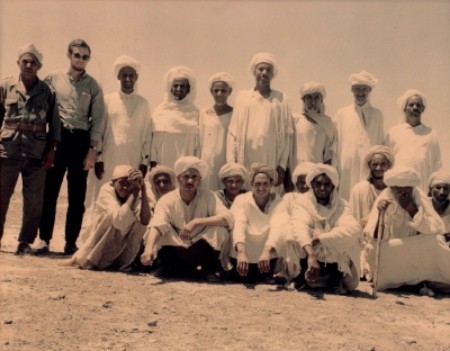 Ross Dunn with men of the Dawi Mani' tribe, southeastern Morocco