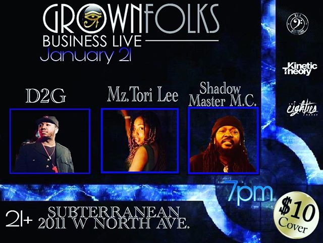 Tonight!! After you've finished watching your favorite football team lose, support live music. @grownfolksbusinesslive