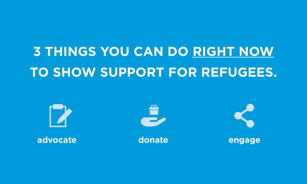 support refugees