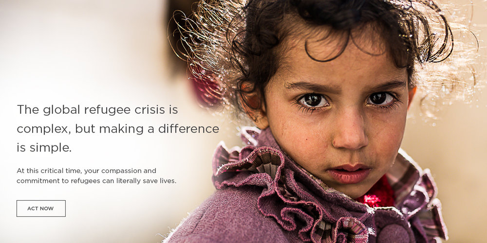 Partner with world relief to serve refugees fleeing violence and persecution.