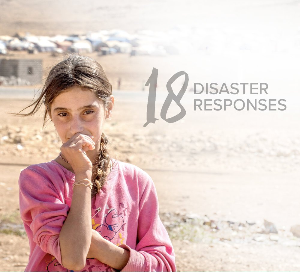 Responded to 18  DISASTERS  around the world.    >>